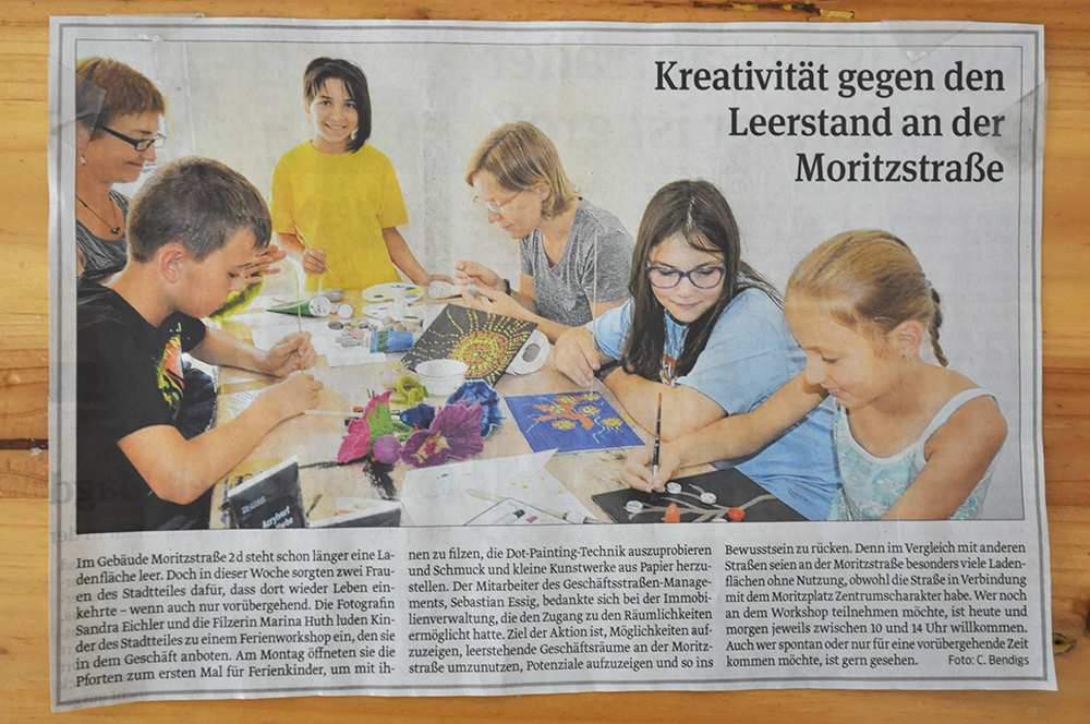 Volksstimme-Artikel Kreativwoche Magdeburg-Neustadt